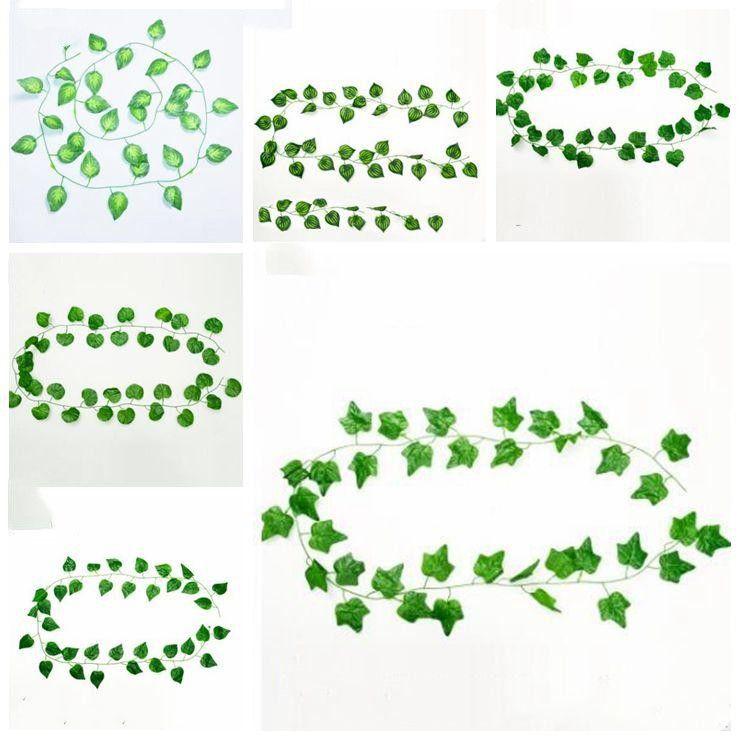 포도 나무 잎 인공 나뭇 가지 가짜 잎 웨딩 정원 장식 LXL998-1 매달려 인공 녹지 인공 식물 잎