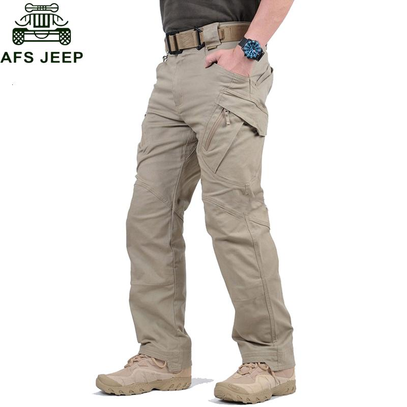 Tactical Pants Army Military Style Cargo Pants Men IX9 Combat Trousers Casual Work Trousers SWAT Thin Pocket Baggy Pants V191108