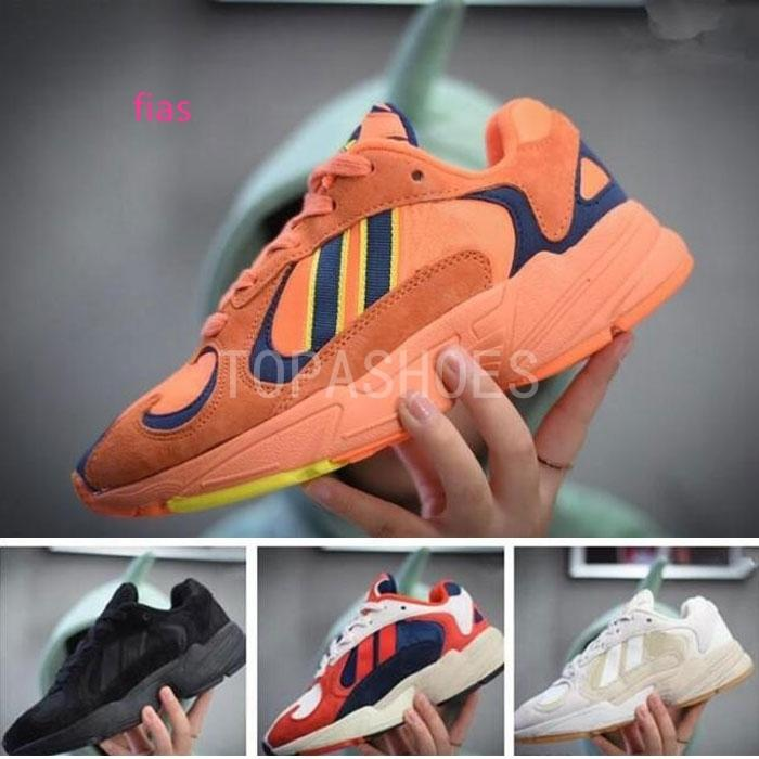 Dragon Ball Z x YUNG-1 OG Goku Hommes Femmes Chaussures de course orange Chaussures de course Sport Sneakers Kanye West Femme Taille Papa 36-45