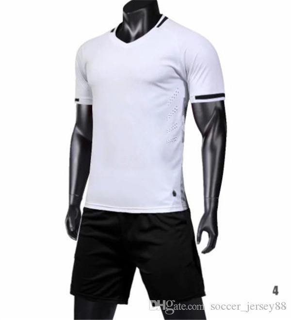 Nuevo llega el blanco camiseta de fútbol # 1901-14-80 Personalizar caliente de la venta superior calidad de secado rápido camisetas de la camiseta de uniformes Jersey