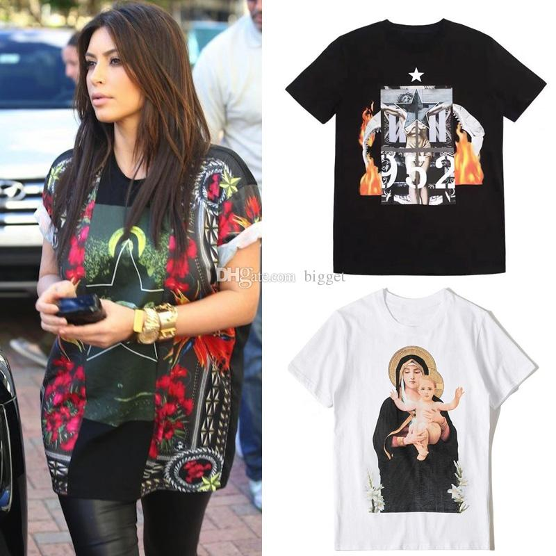 Street Fashion Design Women's Printed T Shirt Crewneck Collar Graphic Tee 2019 S/S Hot Sale Top Wear