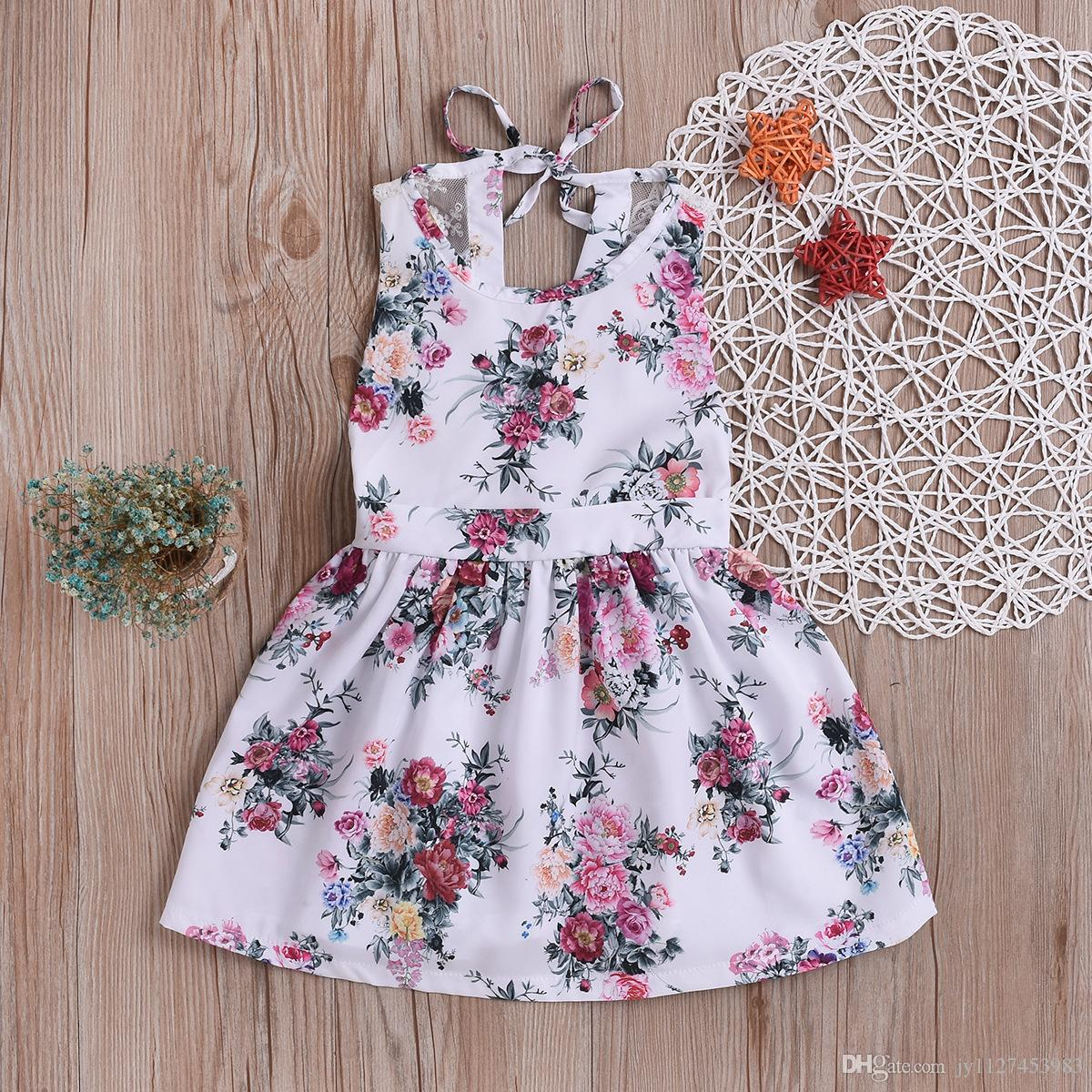 2020 New Style Girls Casual Dress Wholesale Baby Frock Designs