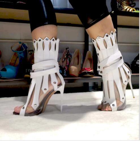 2019 мода Женская обувь супер на высоком каблуке с европейской и американской моды личности полые сапоги