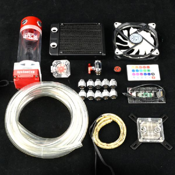 Syscooling PC liquid cooling kit RGB support for intel AMD CPU water cooling with 120 radiator