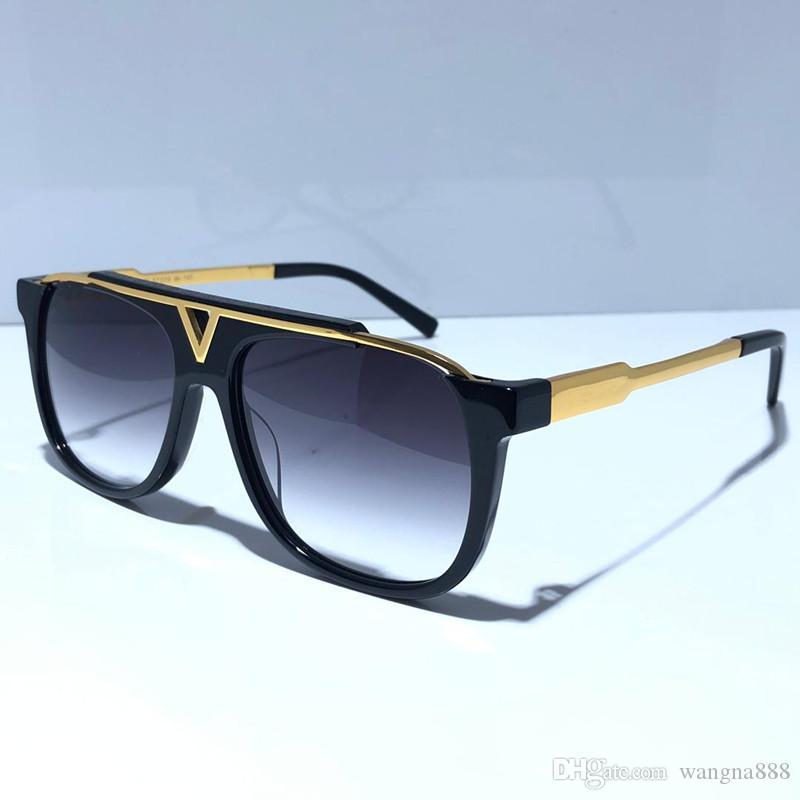 마스코트 0937 고전적인 인기 선글라스 레트로 빈티지 반짝이 골드 여름 유니섹스 스타일 UV400 안경 상자 0936 선글라스와 함께