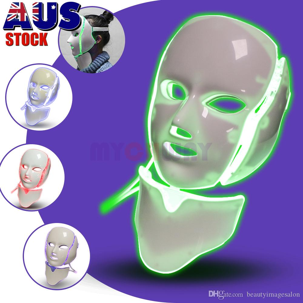 PDT Light Therapy LED Facial Mask With 7 Photon Colors For Face And Neck Skin Rejuvenation LED Face Mask Home Use