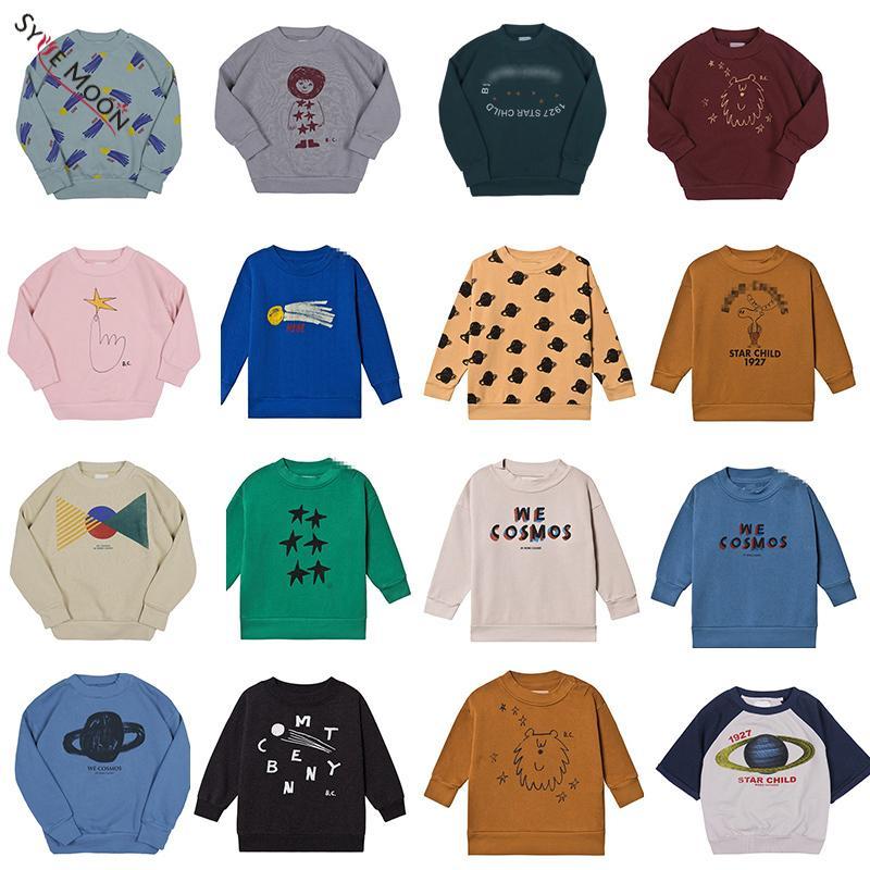 2019 New Outono Inverno BC Marca camisolas dos miúdos dos meninos Girl Fashion Imprimir Pullover Camisolas bebê Crianças Cotton Tops Roupa T191230