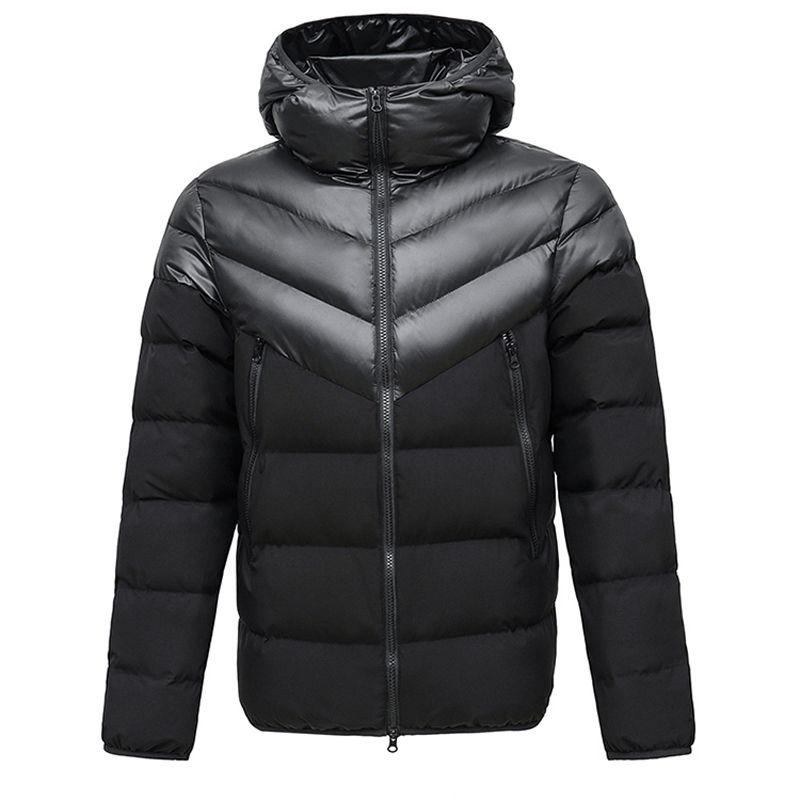 Nouvelle hiver Marque Hommes Femmes Down Jacket épais manteau à capuchon Patchwork Parka Rue Sport Vêtement chaud coupe-vent B103401L Casual