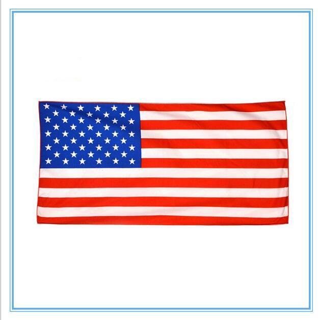 Amerikan Bayrağı Plaj Havlusu ABD Bayrağı Mikrofiber Banyo Havlu Baskılı Dikdörtgen Swim Havlu Plaj Kapak sarar Banyo Elbiseler 70 * 140 cm DYP437