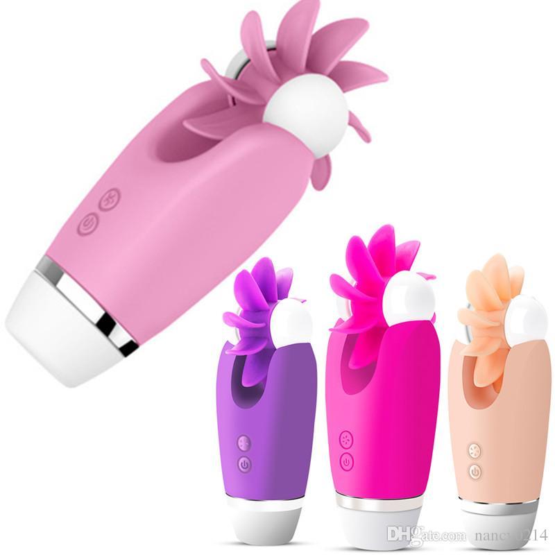 전기 혀 핥는 바이브레이터 여성 진동 G- 스폿 마사지 USB 충전식 회전 성별 제품 섹스 토이 여성을위한 A1-1-255