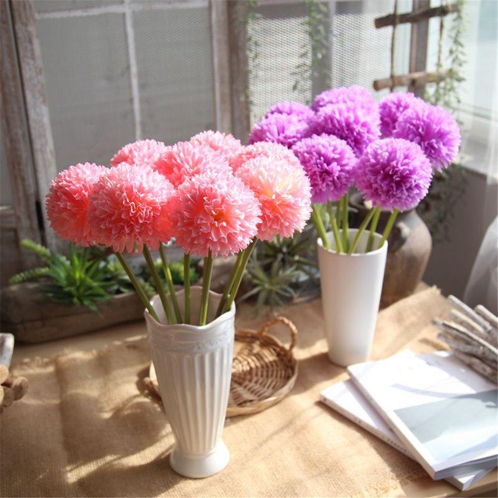 11 cm kopf künstliche hortensien seidenblumen ball diy hochzeit hand bouquet gefälschte blume bouquet für zuhause hochzeit dekorative blumen