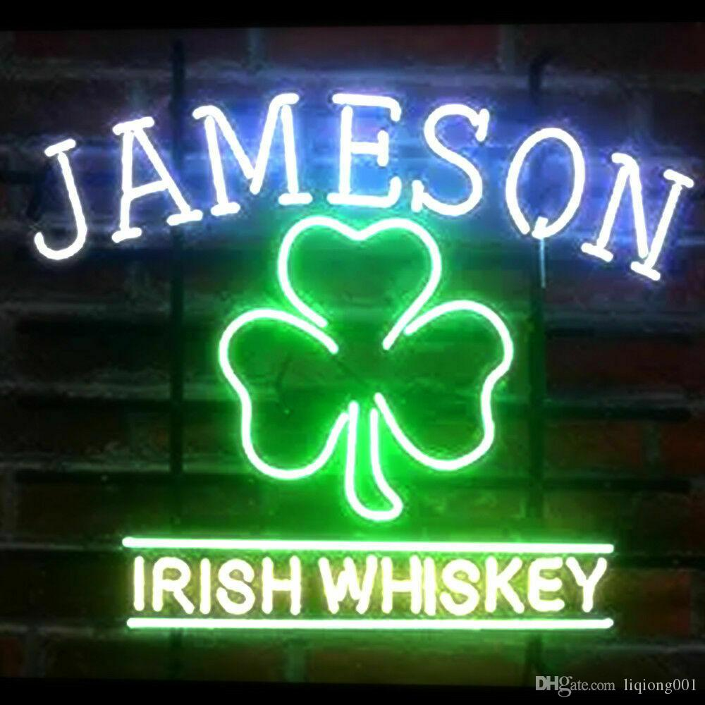 New Star Neon Sign Factory 17X14 Inches Real Glass Neon Sign Light for Beer Bar Pub Garage Room JAMESON IRISH WHISKEY.