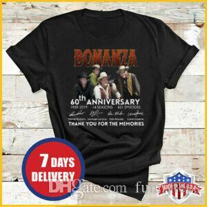 Bonanza Tişörtlü 60. Yıldönümü Memories 1959 2019 Gömlek ABD İçin Teşekkür