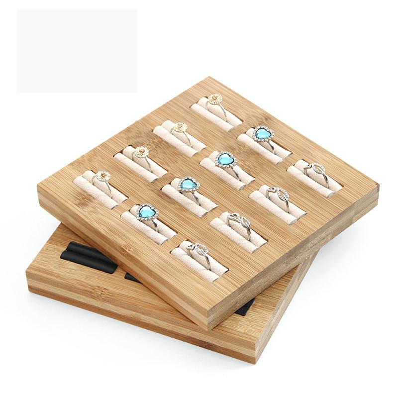 Free shipping Square Shape Jewelry Tray Simple Finger Ring Display Rack Solid Wood Ring Display Rack Jewelry Organizer for Store Shop
