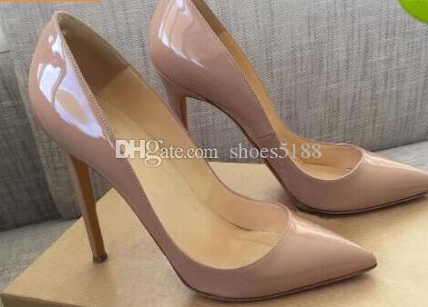 2018 Red Bottom Pumps Lackleder Pigalle Heels DAMEN Brautschuhe Spitzschuh feine Absätze Sexy Woman High Heels 35-44