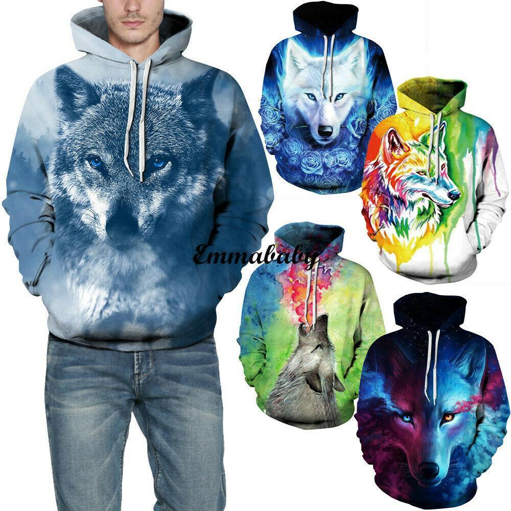 Moda para hombre 2019 Pop Hoodies 3D jersey sudadera Outwear Jumper Chaqueta remata el envío gratuito