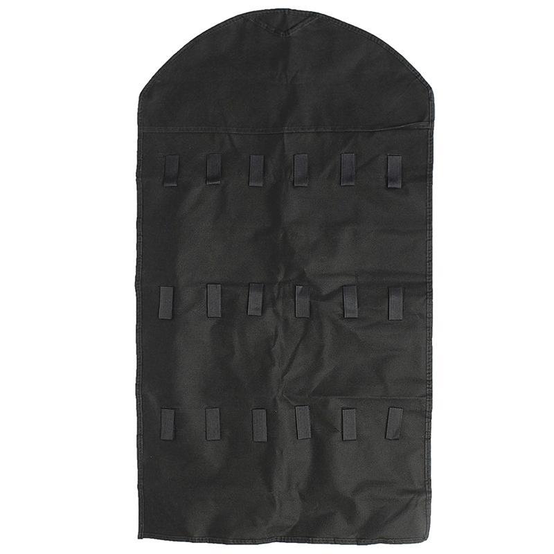 32 Pocket Double Sided Door Hanging Jewelry Organizer Storage Bag Holder Pouch Kitchen Storage Organization