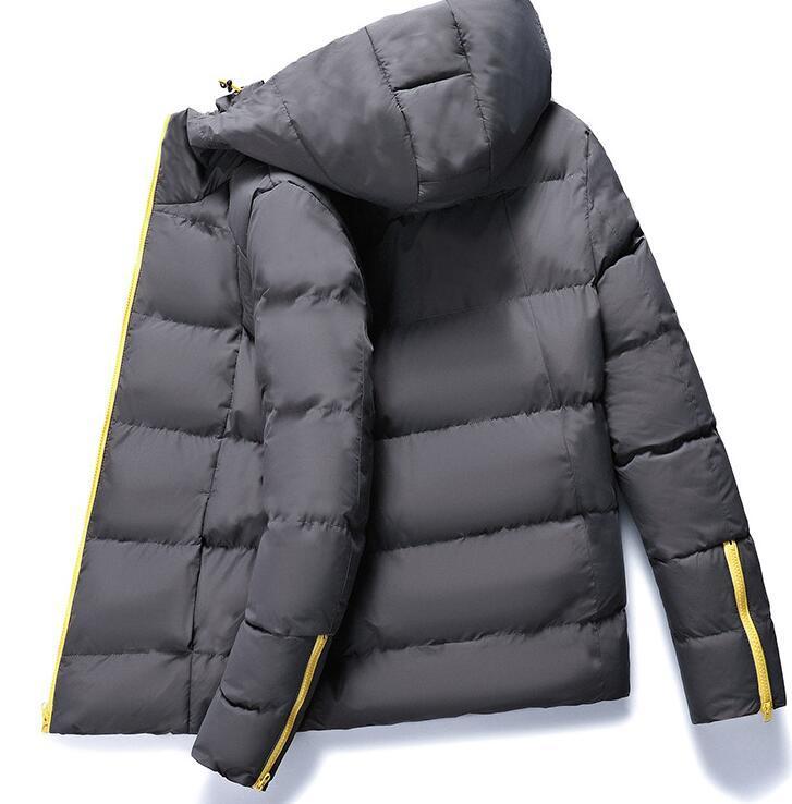 cotone lungo incappucciato nuovo modo caldo inverno degli uomini del nuovo PIUMINI caldi cappotti Cappotti