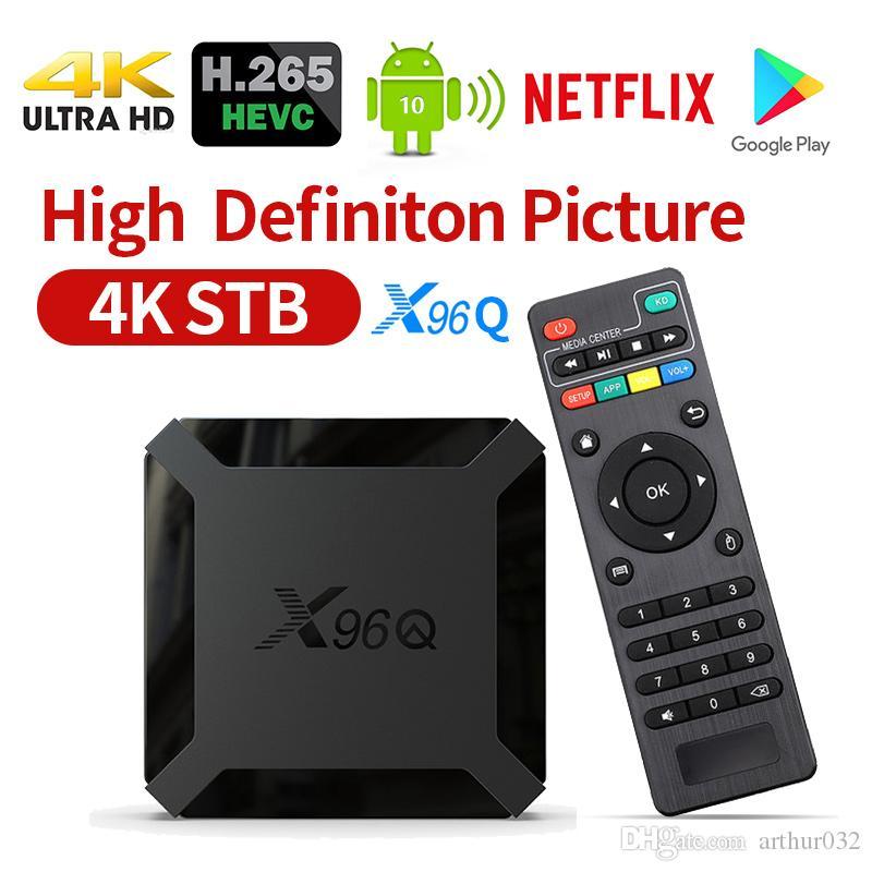 X96Q Smart Android 10.0 TV Box Allwinner H313 Quad Core 1GB 8GB Support 4K X96 Q Set Top-Box Media Player