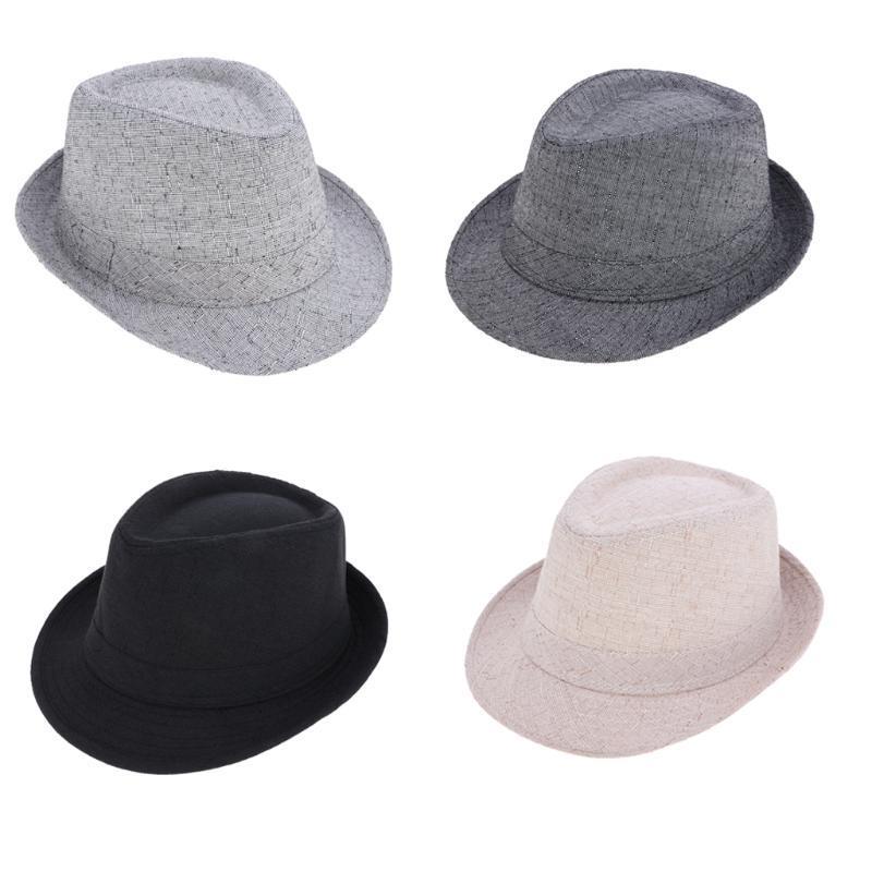 Классический Manhattan Структурированные Gangster Trilby Ткань Fedora Hat