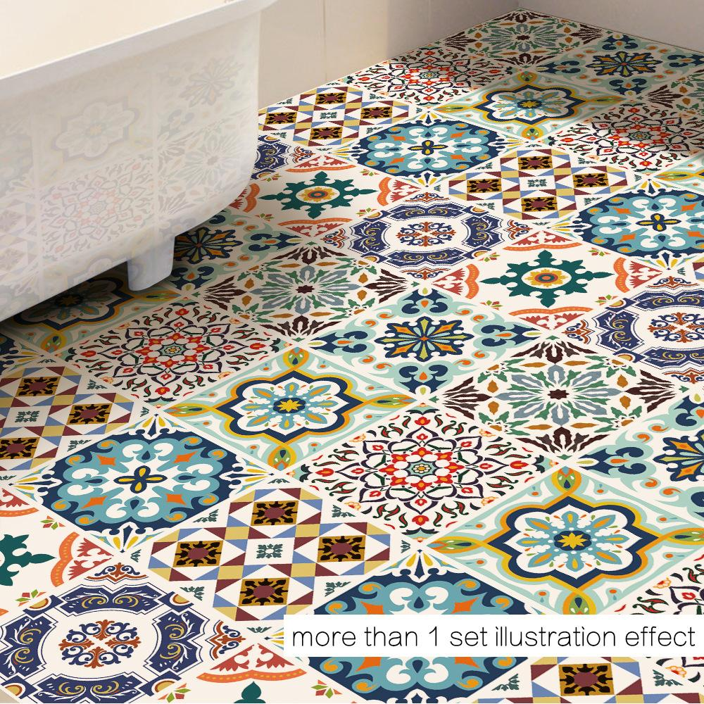 - 39.4x39.4Inch Terracotta Inspired Tile Stickers Kitchen And