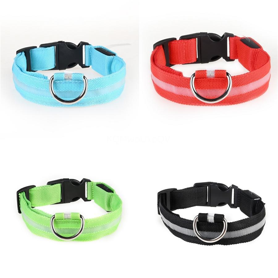 Verstellbarer LED-Kragen Netter Designer Dog Hundehalsbänder Passend Led Collar Dog Zugseil Buckle Welpengeschirr Im Lager Fy4107 # 365