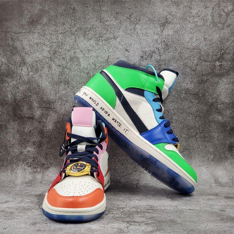 2020 Infant 1 Mid x Melody Ehsani Fearless bambini scarpe da basket senza paura atletici Bambini Sports Sneakers