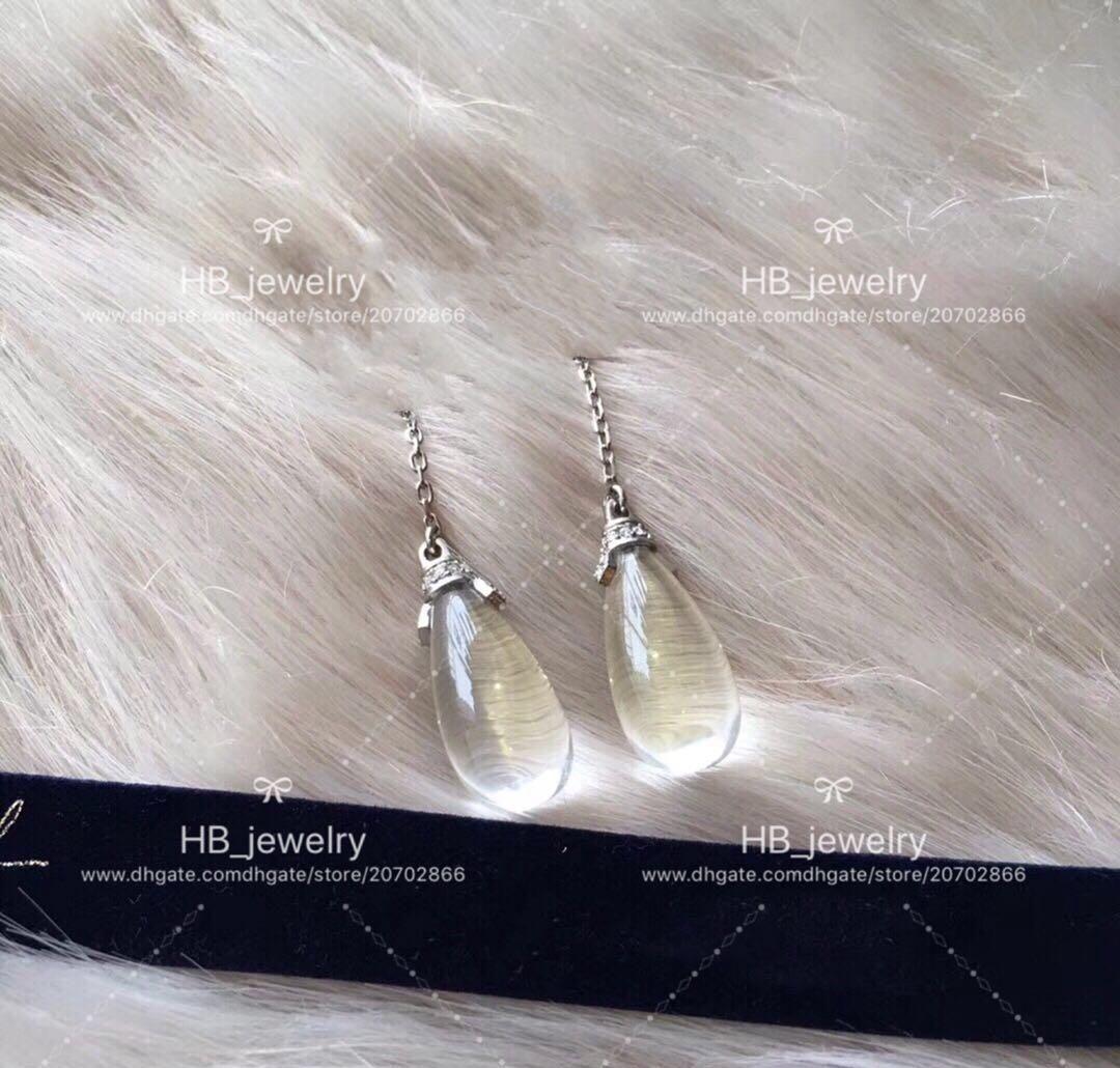 popolare marca di moda acqua gocciolante orecchini firmati frange di partito delle donne della signora di disegno monili di lusso di cerimonia nuziale con per la sposa con la scatola.