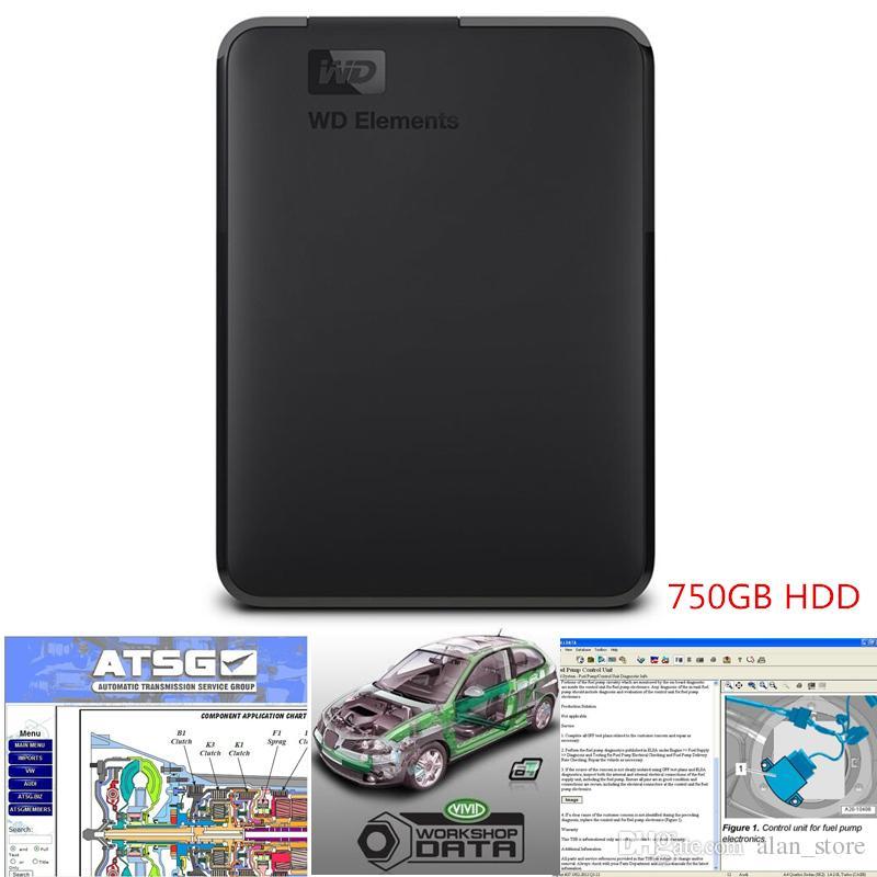 2019 Alldata auto Repair Soft-ware todos os dados v10.53 + Atsg + Vivid oficina com suporte técnico para carros e caminhões USB 3.0