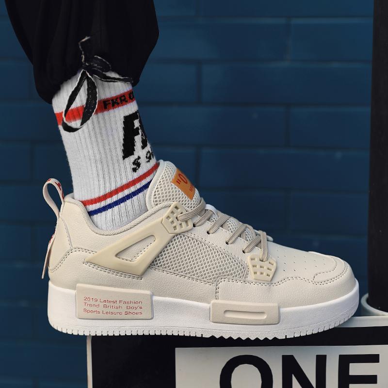 Nuevos zapatos de gran tamaño de los deportes de alta calidad gruesos zapatos de la marea de fondo de mesa transpirable tendencia de los hombres con cordones del Athletic