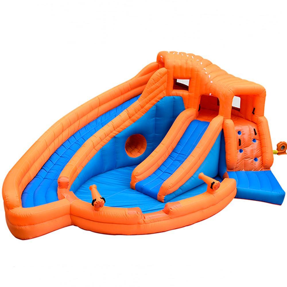 Huge Kids Inflatable Water Slide Pool Fun In The Garden Double Inflatable Water Slide For Kids Play In Garden House