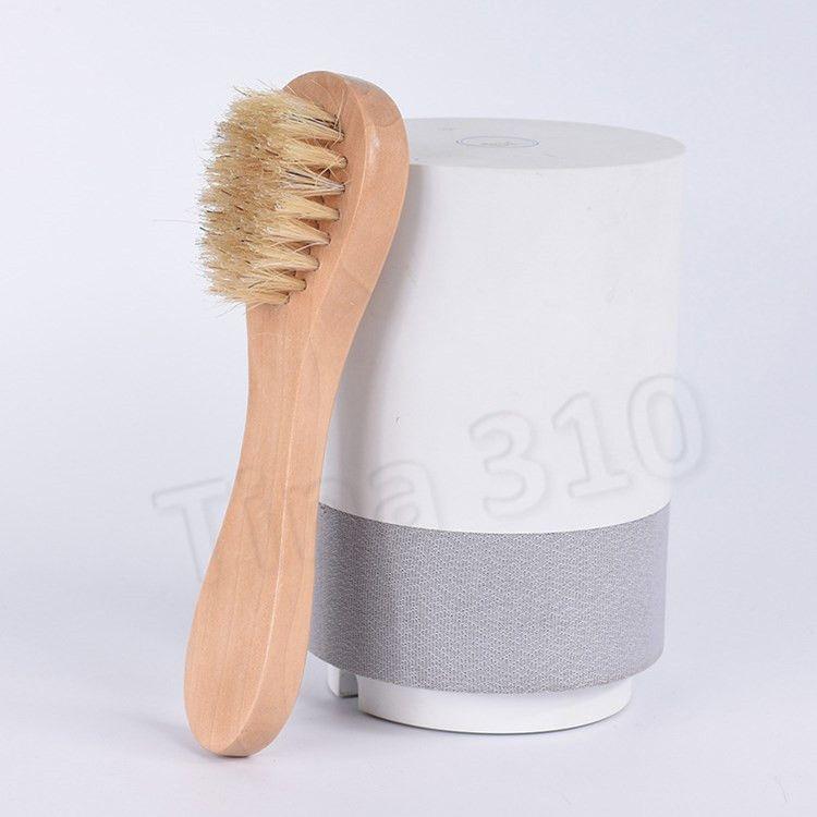 شعر الخنزير الوجه فرش التدليك brushWooden التعامل مع الوجه فرشاة تنظيف العناية بالبشرة تنظيف أدوات المنزل المرحاض AccessoriesT2I5759