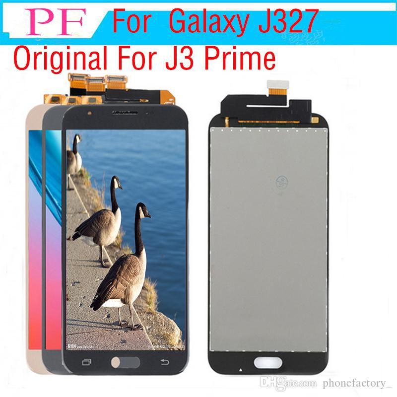 원래 J327 LCD 삼성 갤럭시 J327 J3 프라임 2017 LCD 디스플레이 터치 스크린 디지타이저 전체 어셈블리 J3 프라임 화면 교체