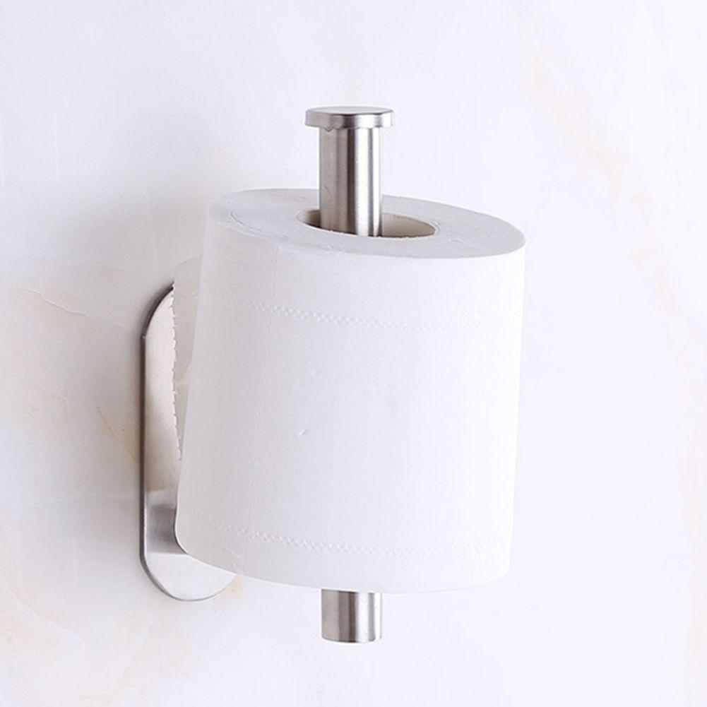 자체 접착 화장실 롤 홀더 스테인레스 스틸 롤 스틱 종이에 주방 욕실 벽 화장실 보관 홀더