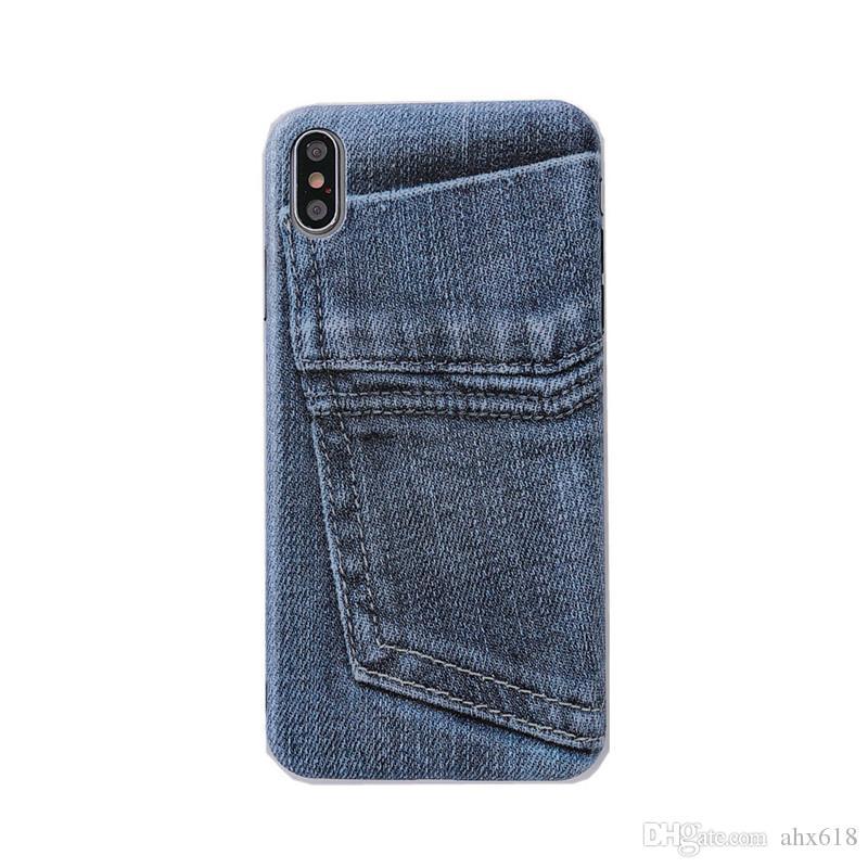Оригинальные модные джинсы подходят для 8plus Apple X Мобильный телефон Shell XSMAX / XR / iPhone 7P / 6s Soft Shell