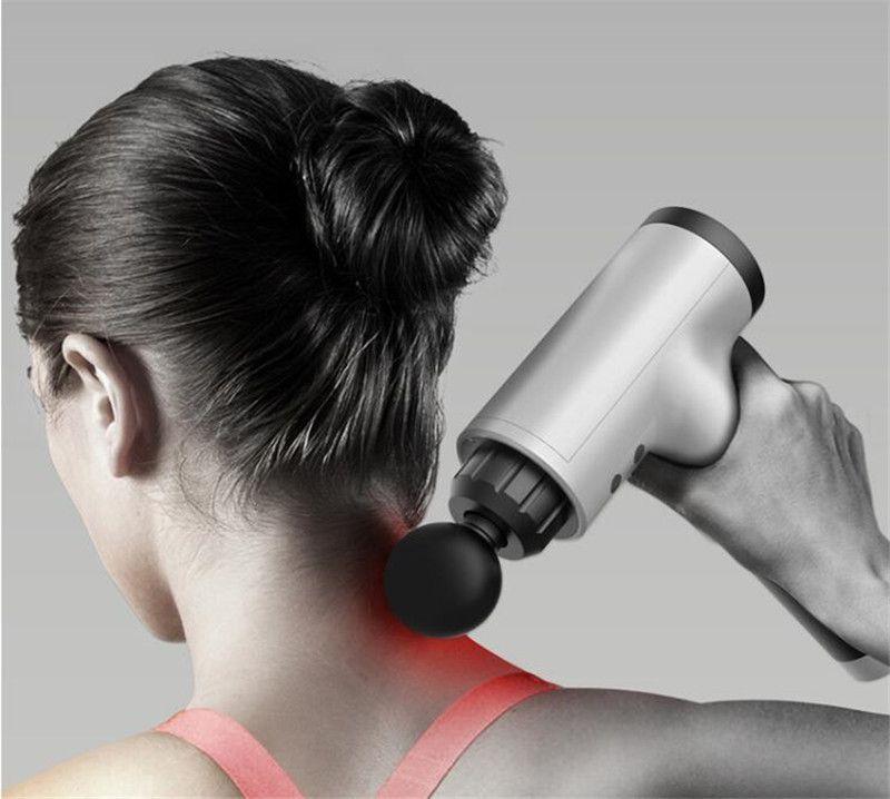 العضلات DC12V الكهربائية مدلك العلاج لفافة تدليك بندقية ديب الاهتزاز العضلات الاسترخاء معدات اللياقة البدنية