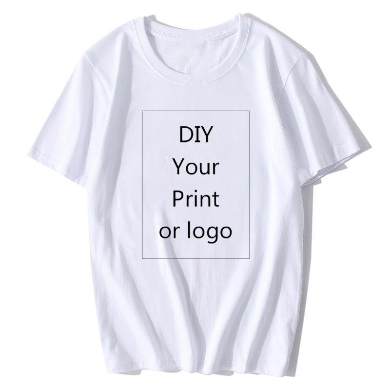 Sıcak Tasarım Marka Logo / Resim Beyaz Siyah Gri Özel tshirt Erkekler ve kadınlar harajuku t-shirt Artı Boyutu T Shirt Erkek Giyim