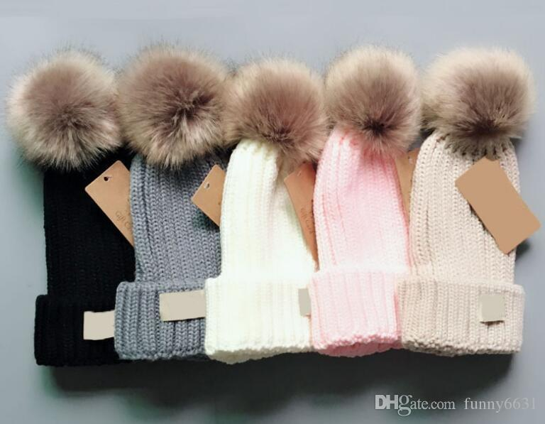 1-12t Freeship Kış bebek Şapka Çocuklar için Marka Seyahat oğlan Moda kasketleri Skullies Chapéu Caps Pamuk Kayak kap kız pembe şapka takım