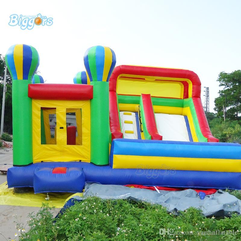Slide ile YARD Çin Fabrikası Ticari Grade Şişme Bounce Evi Şişme Castle Gonflable Çocuk Bouncer Combo