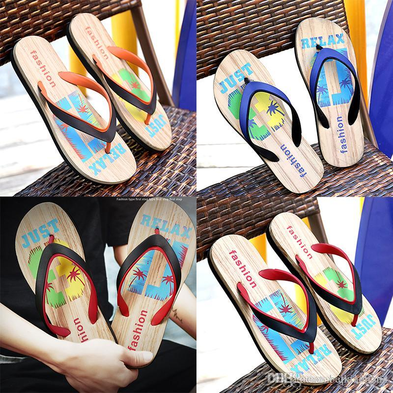 new style Designer Rubber Non-slip sandals slippers men Designer flower printed beach flip flops slipper summer Hawaii Beach slippers