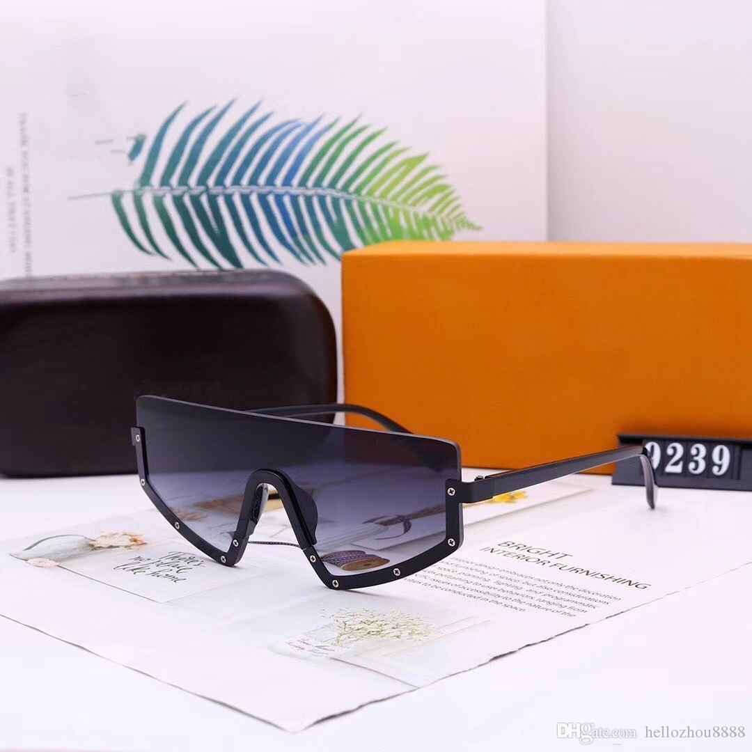 2020 Nuovi Uomini E Donne Occhiali Da Sole Del Progettista Occhiali Da Sole Di Lusso Donna Uomo Occhiali Occhiali modelli 9239 opzionale con la scatola