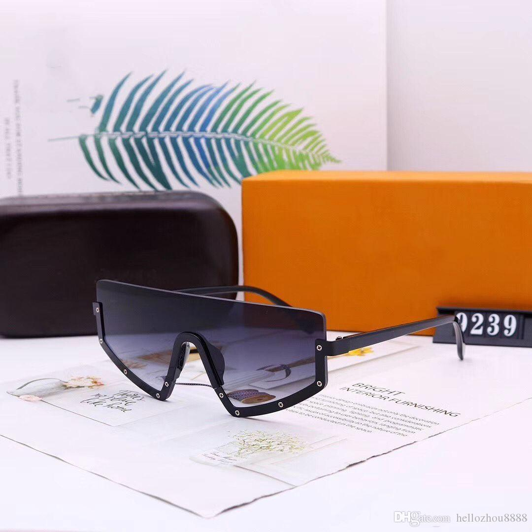2020 nuevos hombres y mujeres gafas de sol gafas de sol de diseño de lujo mujeres hombre gafas gafas modelos 9239 opcional con caja