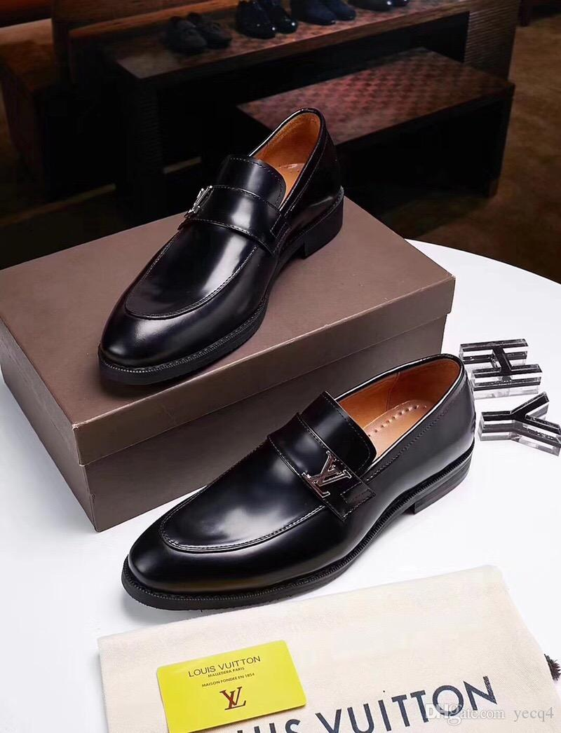 timeless design various colors super cute Top Luxurious Men Formal Shoes Mens Slip On Shoe PU Leather Brown ...