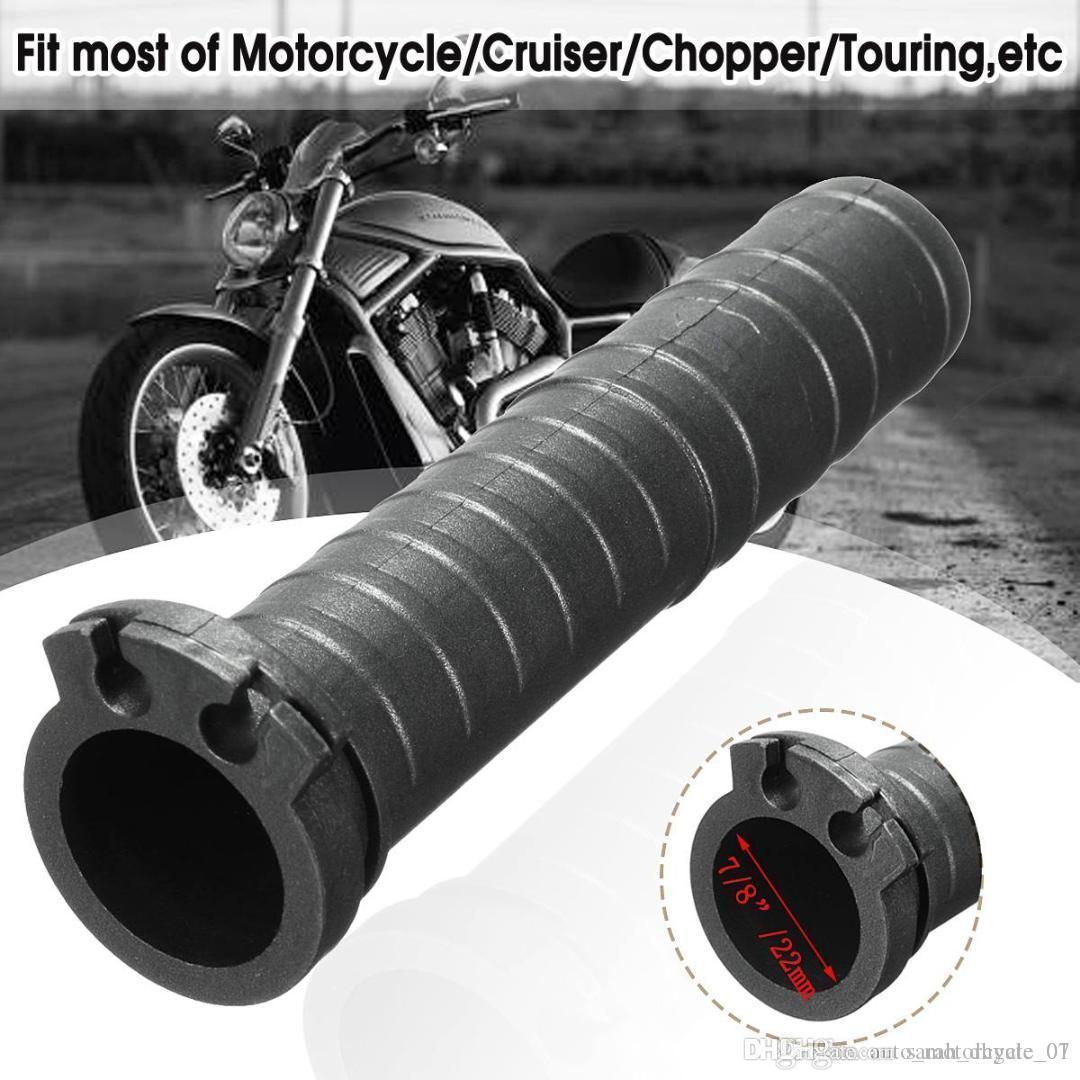 Evrensel 7/8 inç Siyah Gidon El Grip Çift Kablo Gaz Boru Motosiklet Cruiser Chopper Cafe