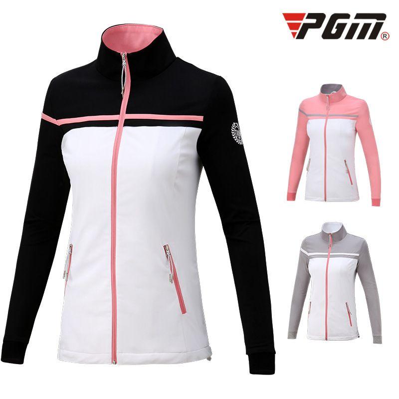 Pgm Automne Hiver Golf Vêtements de sport Femmes sport coupe-vent veste à manches longues respirant Golf Vêtements Manteau D0505