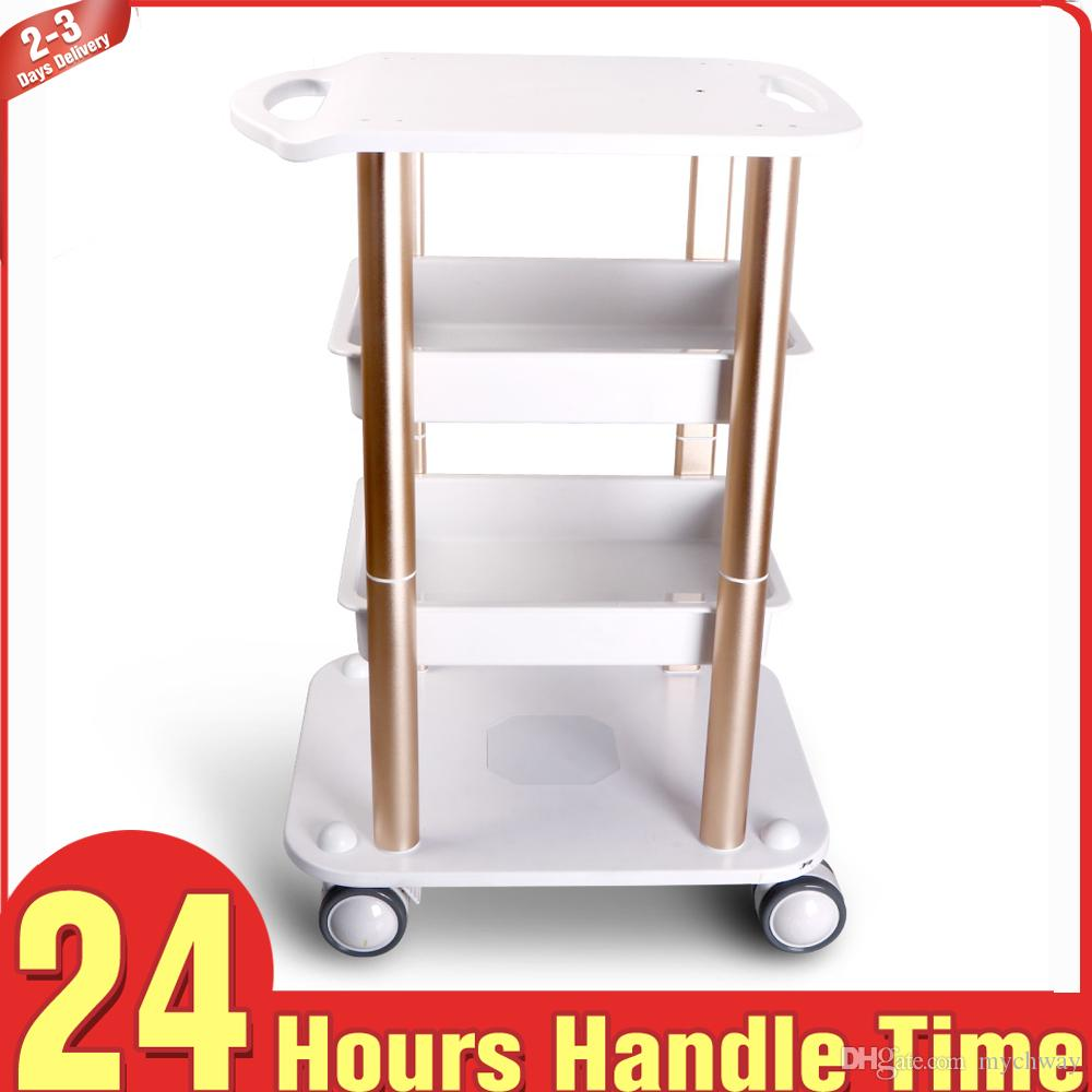 High Quality Assembled Steel Trolley Stand Trolling Cart Movable Stand Trolley for Vacuum Cavitation RF Beauty Machine