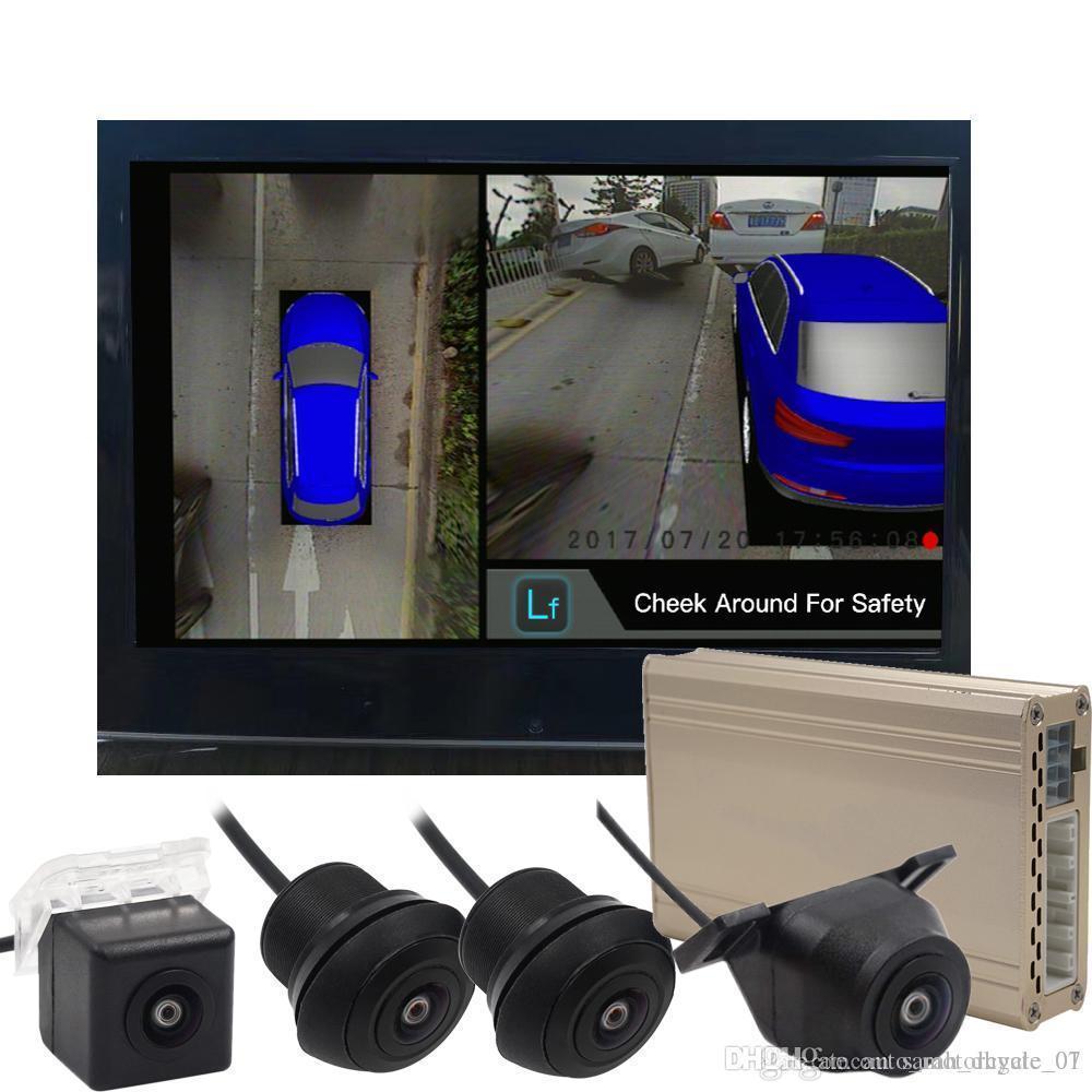 Direksiyon Tekerlek Nigh Vision 360 Sorunsuz Çevre Görüş DVR ile dört Kameralar araba dvr takiben Sıcak Satış CAN Bus Referans Hattı Taşı