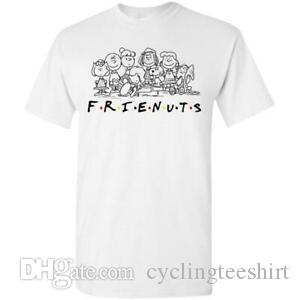 Frienuts Snoopy And The Peanuts Funny Friend TV Show White T Shirt S 6XL