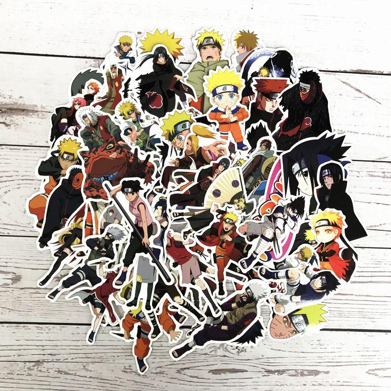 63 قطعة / الوحدة اليابان أنيمي ناروتو sasuke الكرتون للثلج محمول الأمتعة الثلاجة سيارة- التصميم الفينيل صائق ديكور المنزل ملصقات