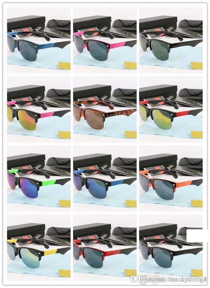 مصمم العلامة التجارية عالية الجودة نظارات نصف إطار بالجملة للرجال والنساء نظارات شمسية القيادة جوجل زجاج النظارات الشمسية الشاطئ